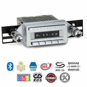 1958-65 Buick Chevrolet Studebaker Wonder Bar 3 Radio AM/FM Bluetooth USB Stereo