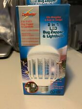 Bug Insect Zapper Bulb & Porch Light Easy Installation Flying Mosquitoes Socket
