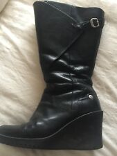 Ladies Ugg Long Leather Boots Size 5.5