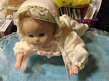 Vintage Porcelain Crawling Baby Doll mint condition