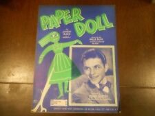 Frank Sinatra Paper Doll  Sheet Music   combined shipping