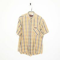 MARLBORO CLASSICS Button Up Shirt Yellow | Large L