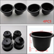 4X Durable Black Boat Plastic Cup Drink Can Holder For Boat Marine RV Universal