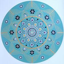 disc-mandala 1 / vinyl record mandala art handmade painting