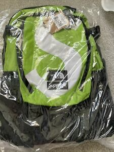 SUPREME North Face Supreme S Logo Expedition Green Backpack In Hand BNWT