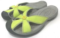 KEEN Bali Women Sandals Size 6 Slip On Slides Flip Flops Sport Green Closed Toe