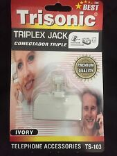 Trisonic Triplex Jack Telephone Accessories fax answering machine phones