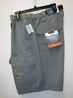 MENS BIG & TALL SIZE 46 CROFT & BARROW PEPPER HEATHER BELTED CARGO SHORTS #14371