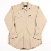Vintage WRANGLER Pearl Popper Thick Western Shirt | Men's L | Retro Cowboy Jeans