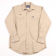 Vintage Wrangler Pearl Popper épais Western Shirt | Homme L | Rétro Cowboy Jeans