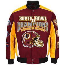 Washington Redskins 3-Time Super Bowl Champion Jacket -Size 3X Free Ship