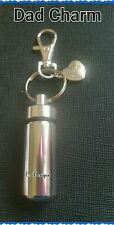 Cremation Ashes/keepsake Urn Keyring DAD/Family Charm FATHERS DAY Memorial