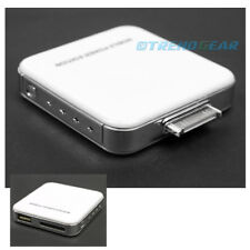 2200MAH PORTABLE EXTERNAL WHITE BATTERY MOBILE CHARGER USB IPHONE 4S 4 3GS IPOD