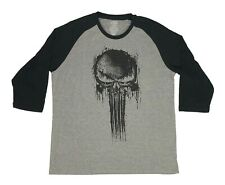 Marvel Men's T Shirt The Punisher Logo Graphic Raglan Tee