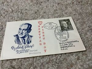 Postal History Austria FDC #651 President Adolf Scharf 1960