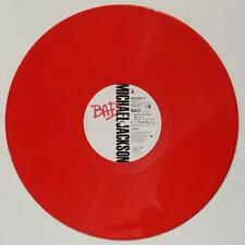 Michael Jackson – Bad Rare 1987 LTD Red Vinyl UK Press 12'' Single