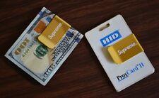 Supreme Money Clip Credit Card Metro Holder Wallet Gold