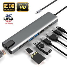 Multiport USB C Hub USB 3.1 3.0 Adapter 4K HDMI Cable For Dell XPS Mac Book Pro