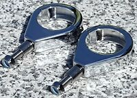 39MM CHROME TURN SIGNAL CLAMPS for Harley Davidson Sportster Dyna Glide