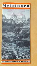 altes Reise Prospekt Meiringen, Berner Oberland, Schweiz, um 1932
