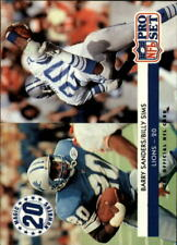 1992 Pro Set Football Card #349 Barry Sanders MN/Billy Sims