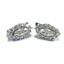 Stud Excellent Cut Omega back Fine Diamond Earrings