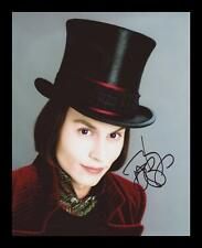 JOHNNY DEPP - WILLY WONKA AUTOGRAPHED SIGNED & FRAMED PP POSTER PHOTO