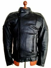 Vtg Leather BELSTAFF Twin Track Motorcycle Biker Bike Cafe Racer Jacket Coat Sml