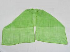 "Vintage 80's Italian for Saks Fifth Avenue Green Square Dots Silk Scarf 26""x86"""