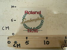 STICKER,DECAL ROLAND LAMBORGHINI  RACING