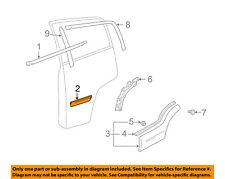 SUZUKI OEM 02-06 XL-7 REAR DOOR-Body Side Molding Right 7753052D01ZJ3