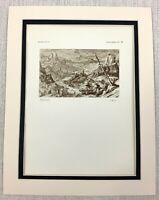 1927 Antico Stampa Landscape Disegno Olandese Vecchio Master Tobias Verhaecht