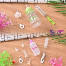 Feeding Nursing Bottle Nipple Brush Kit For Dog Puppy Cat Kitten Pet 60ml 150mlW