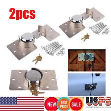 New listing 2x Steel Van Garage Shed Door Security Padlock Hasp Kit Heavy Duty Lock 2Keys Us
