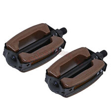 "NEW! Bike 1/2"" Bicycle Krate Pedals Brown/Black Beach Lowrider Chopper Pedal"