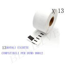 13 Etichette per DYMO 99012 89X36mm S0722400 LABELWRITER 400 450 310 320 330