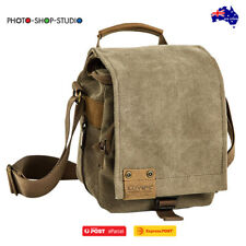 AU*Loveps LP-TR-1225 Canvas Camera Shoulder Bag (Brown , Small)Fits SLR + 1 Lens