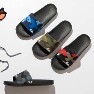 Men Casual Slippers Non-Slip Slides Male Indoor Summer Flip Flops Beach Sandals