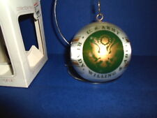 Campus Originals CHRISTMAS SATIN BULB ORNAMENT~U.S. ARMY, READY,WILLING & ABLE