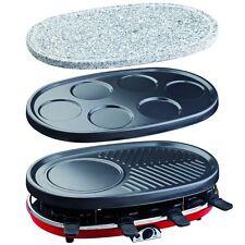 Raclette-Grill 4in1 H.Koenig RP418 hei�Ÿer Stein Raclette-Gerät für 8 Personen