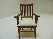Dollhouse Miniatures Furniture 1//12 3011wn Upholstered Walnut Chair