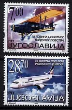 4402 YUGOSLAVIA 2002 Civil Aviation Airplanes **MNH