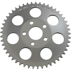 PBI Sprockets 2072-49C Chrome Aluminum Rear Drive 49T Sprocket Harley BT 73-86