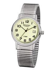 Regent Uhr 15954097 klassische Herrenuhr Zugband Flex Edelstahl