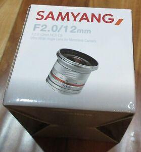 Samyang F2.0/12mm NCS CS Ultra Wide Angle Lens for Mirrorless Cameras, Black NIB