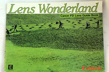 Canon WONDERLAND FD LENTI Instruction GUIDE MANUALE INGLESE