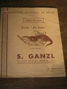 catalogue  pèche ancien ganzl paris