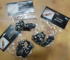 NWT Lot of 3 Jacobson Studded Bracelets Motorcycle toughie Dance Theatrical prop