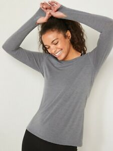 NWT Old Navy UltraLite Boat-Neck Long-Sleeve Performance Top Shirt Large Tall
