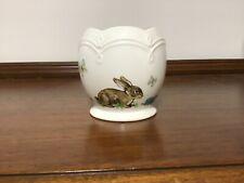 Lovely Lenox Porcelain Egg Shaped Easter Bunny Tealight/Votive Holder &Gold Trim